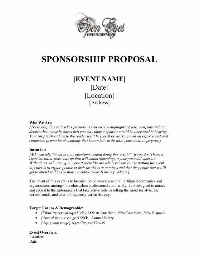 Sponsorship Package Template Free Elegant Sponsorship Proposal