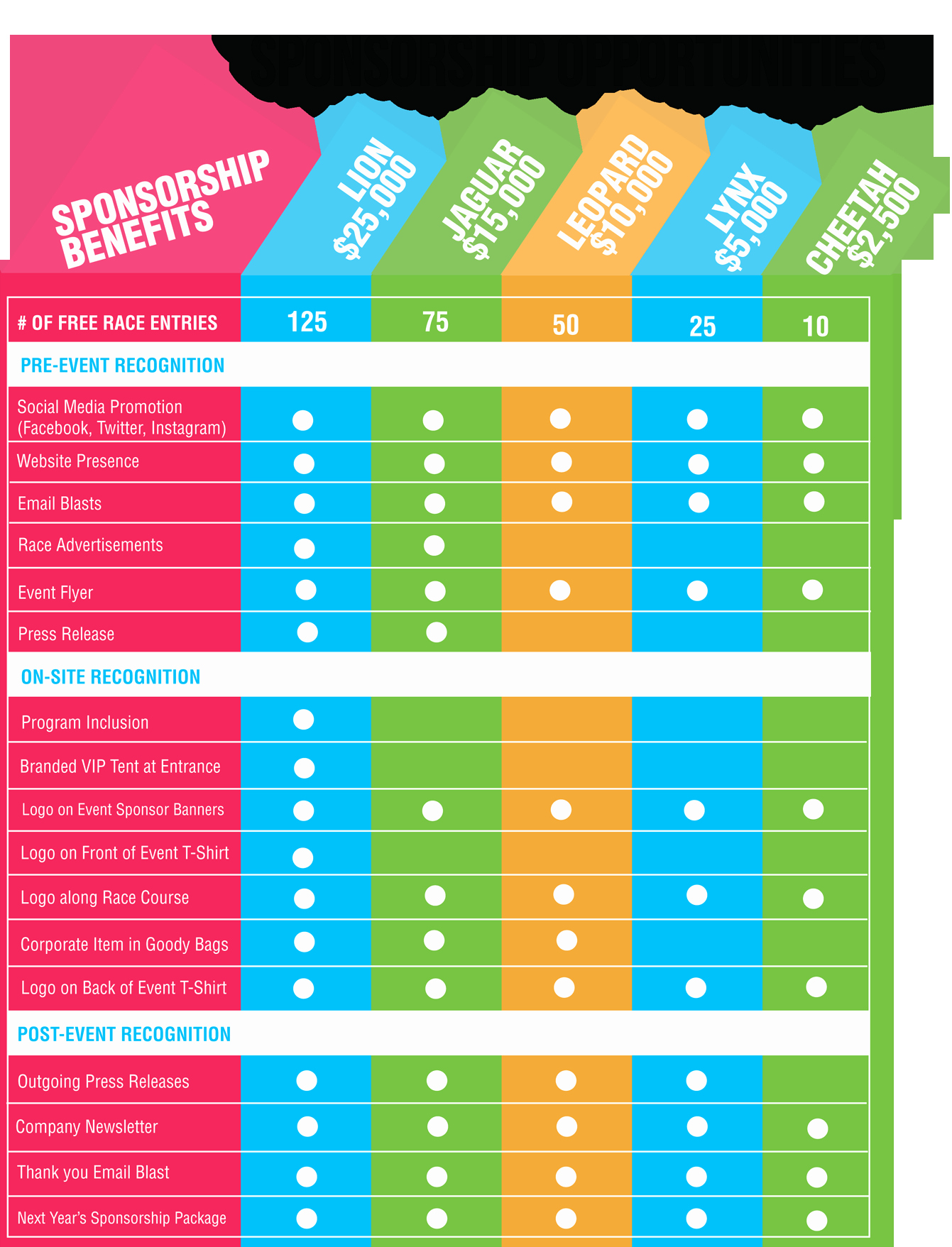 Sponsorship Package Template Free Fresh Love This Sponsorship Chart Both the Design and the