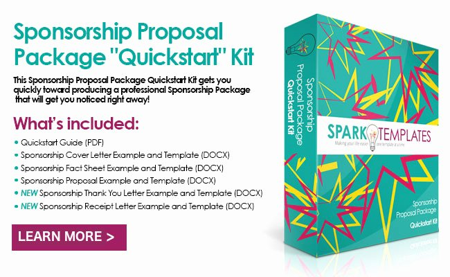 Sponsorship Package Template Free Fresh Sponsorship Packages for events and Non Profits