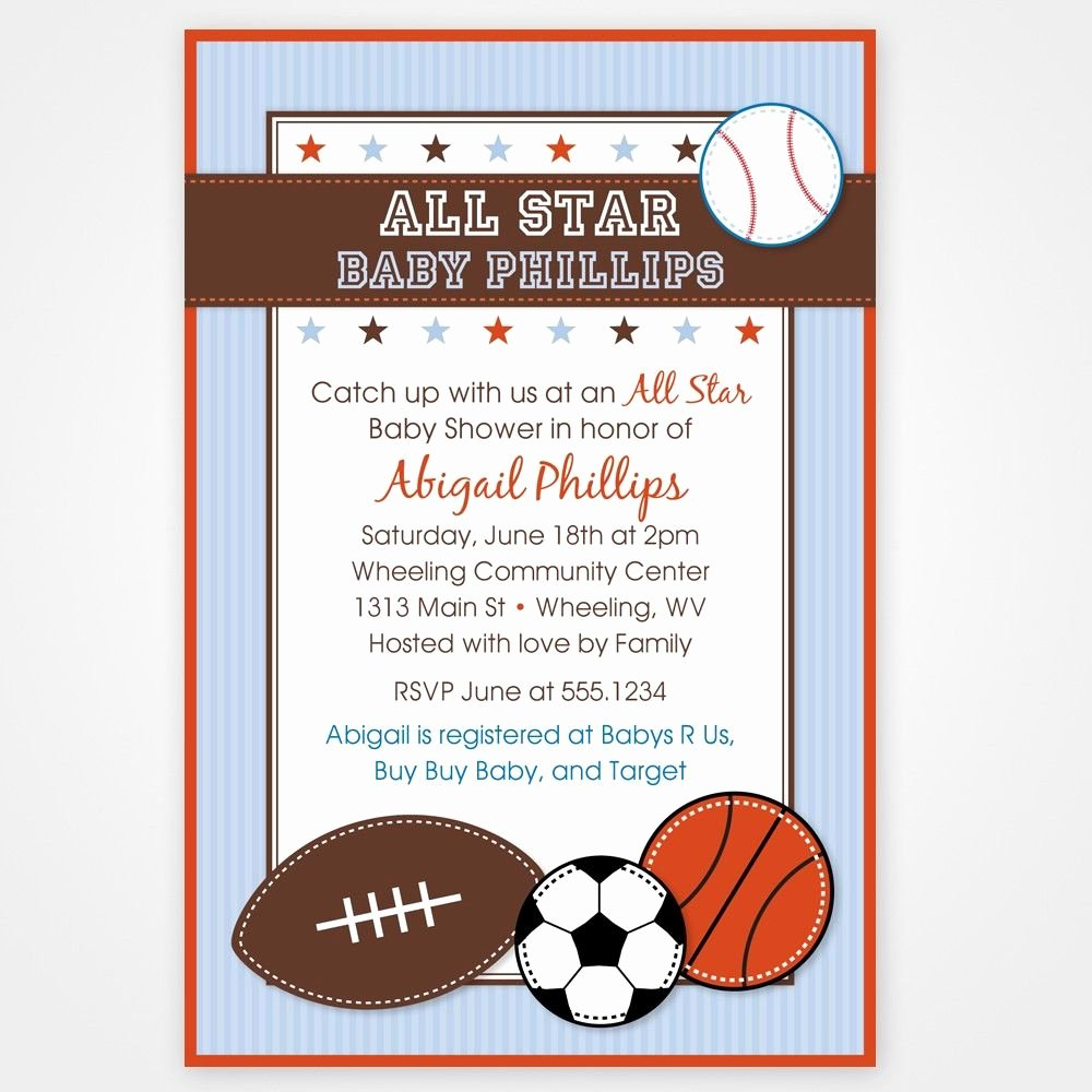 Sports Invitation Template Awesome Download Free Baby Shower Invitations Templates for Word