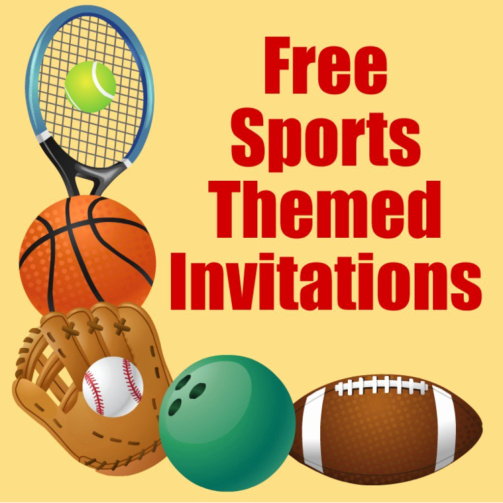 Sports Invitation Template Best Of Free Printable Sports Birthday Party Invitations Templates