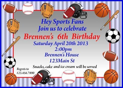 Sports Invitation Template Fresh Sports Birthday Invitations Ideas – Free Printable