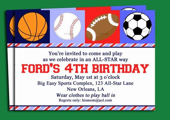 Sports Invitation Template Inspirational Blank Free Printable Birthday Invitations for Boys