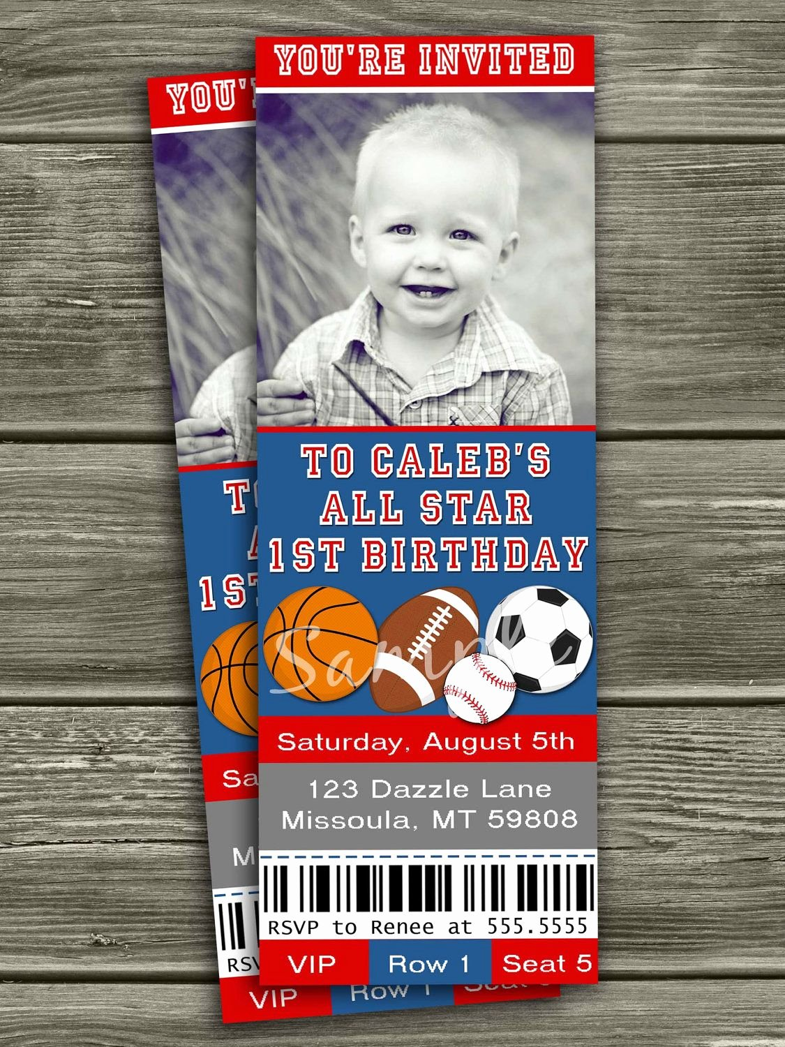 Sports Ticket Invitation Template Free Inspirational Sports Ticket Invitation Free Thank You Card Included