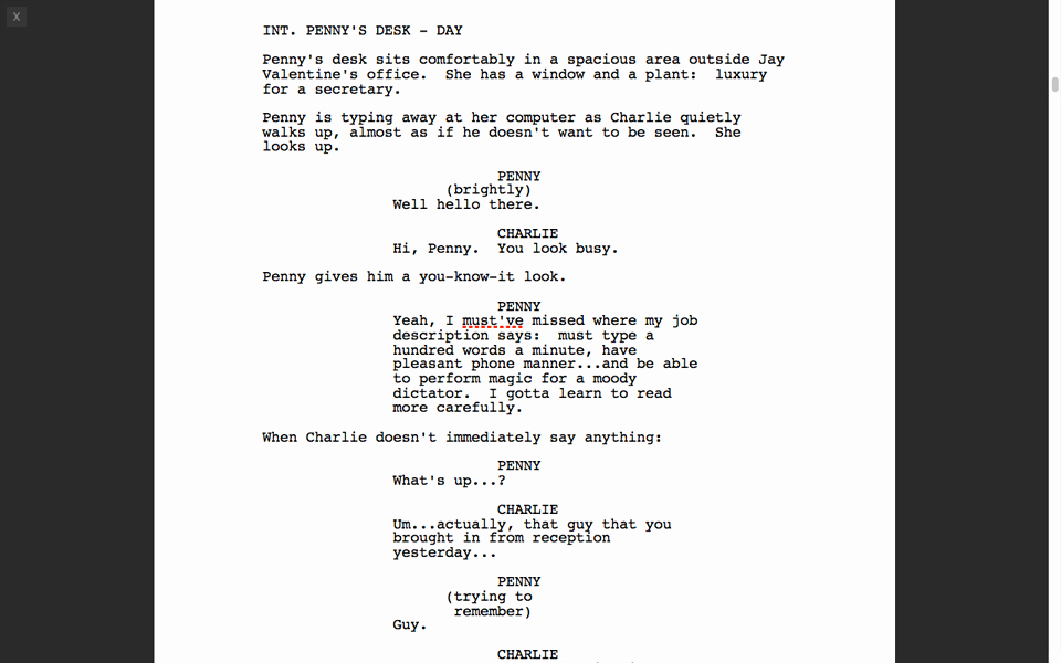 Stage Play format Template Elegant Fade In Professional Screenwriting software