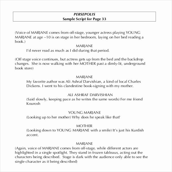 Stage Play format Template Elegant Movie Script Template