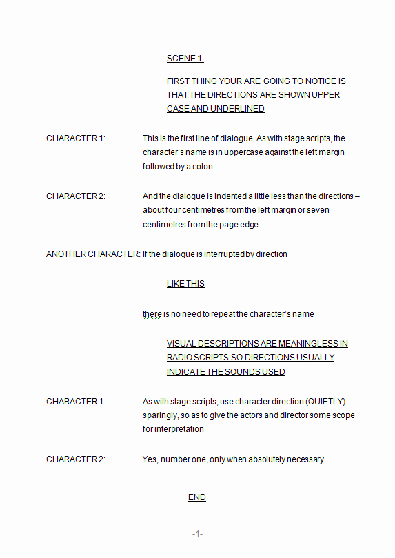 Stage Play format Template Lovely formatting Scripts 3 Radio