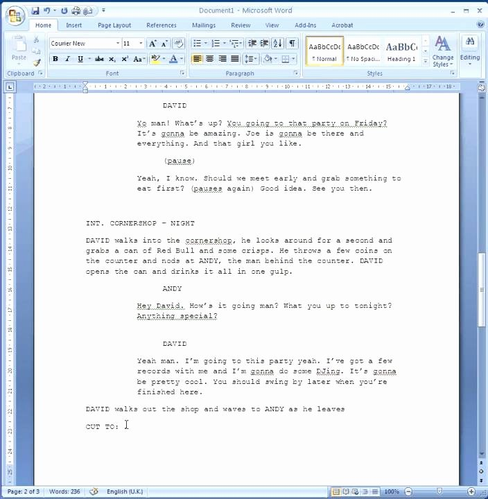 Stage Play format Template Lovely How to format Your Script