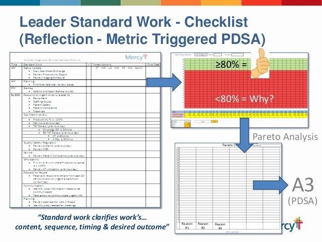 Standard Work Template Fresh Mercyleaderstandardworkabbreviatedppleansummit 1