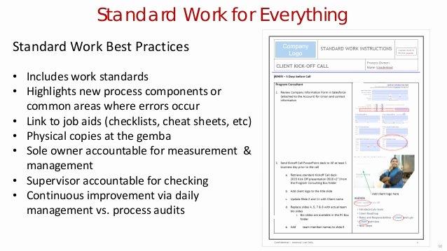 Standard Work Template Inspirational 31 Tkmg's Current Standard Work