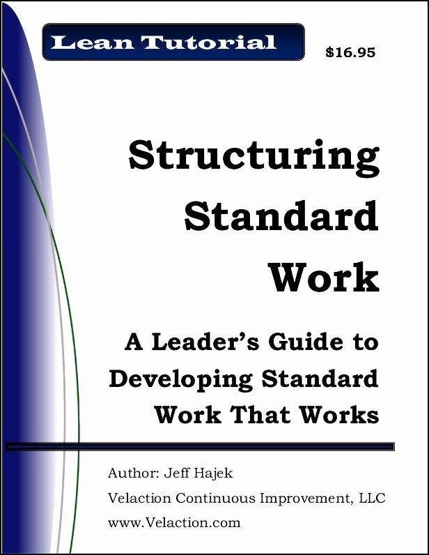 Standard Work Template New Standard Work