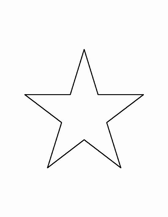 Star Stencil Printable Fresh 6 Inch Star Pattern Use the Printable Outline for Crafts