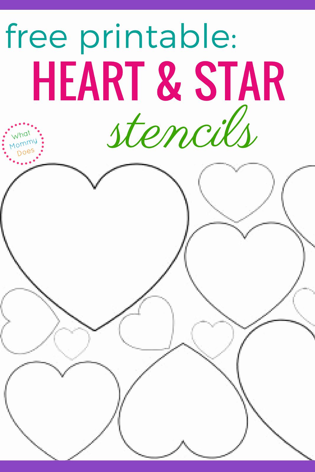 Star Stencil Printable Inspirational Free Printable Heart Stencils & Star Templates