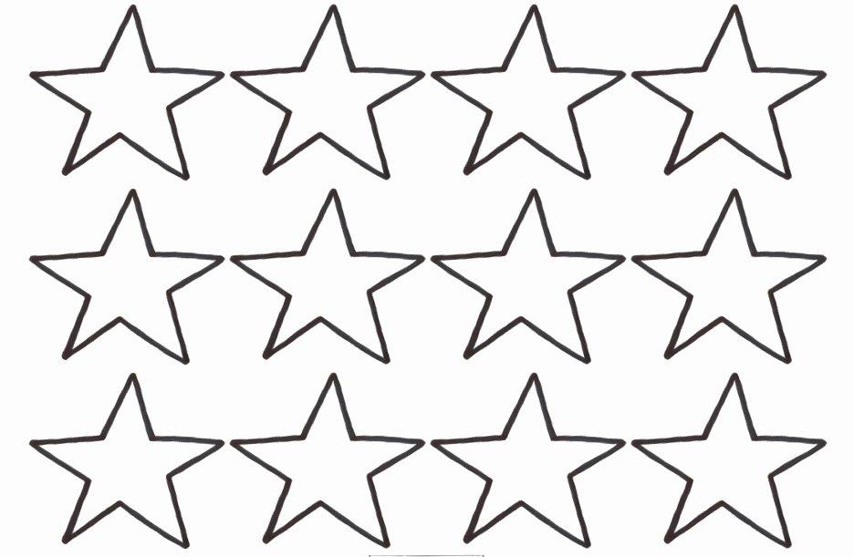 Star Stencil Printable Inspirational Star Template Small