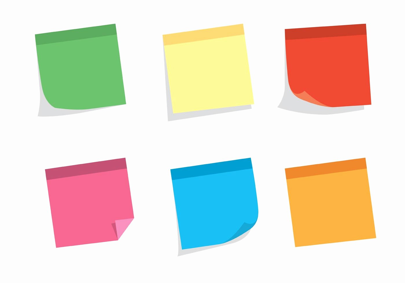 Sticky Notes Vector Lovely Free Vector Sticky Note Set Download Free Vector Art
