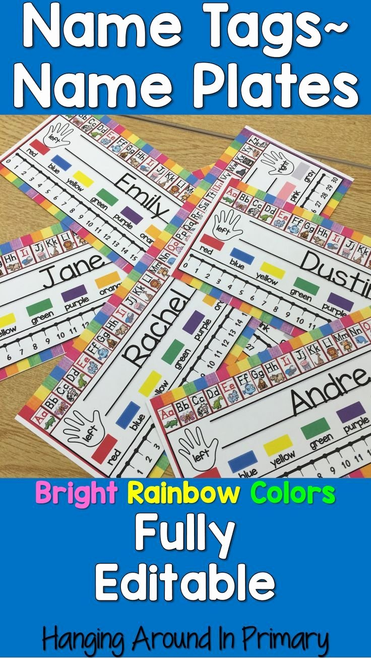 Student Desk Name Plates Templates Beautiful 17 Best Ideas About Name Tag Templates On Pinterest