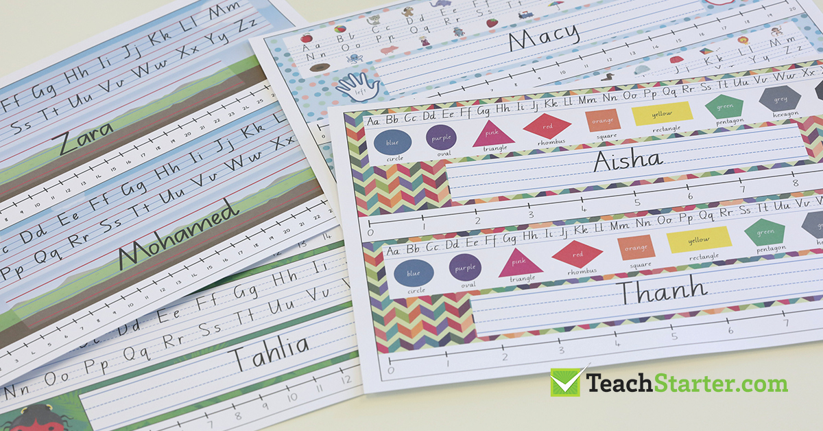 Student Desk Name Plates Templates Lovely Our Most Popular Customisable Classroom Labels Signs