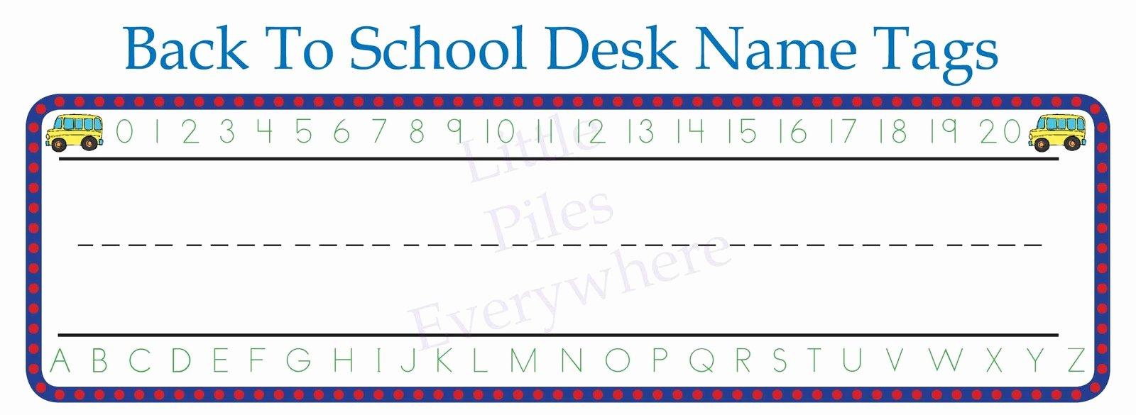 Student Desk Name Plates Templates New Printable Desk Name Plates for School Hostgarcia