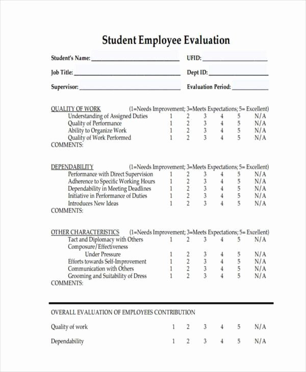 free evaluation form