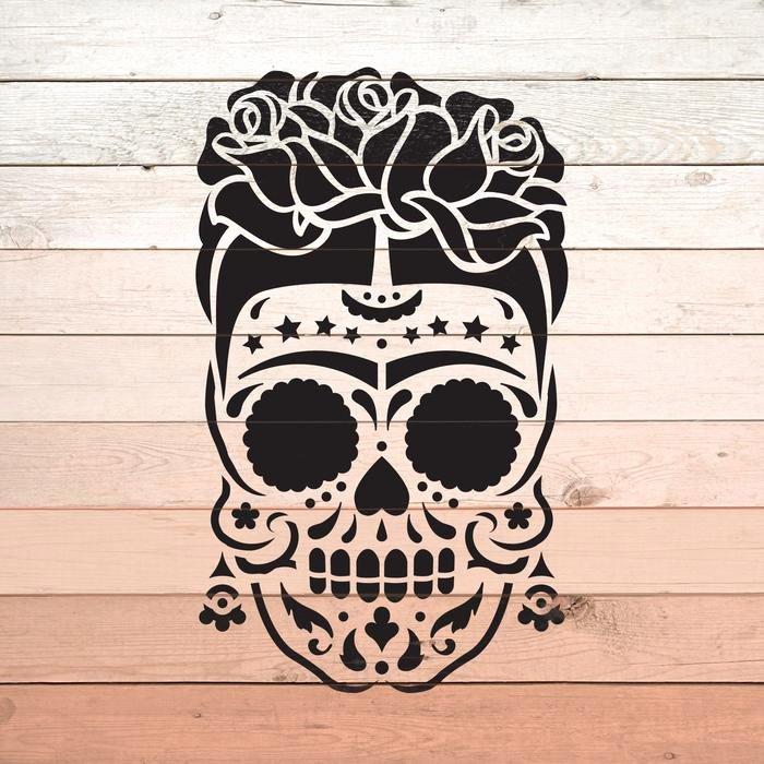 Sugar Skull Pumpkin Carving Stencils Beautiful Sugar Skull Frida Stencil