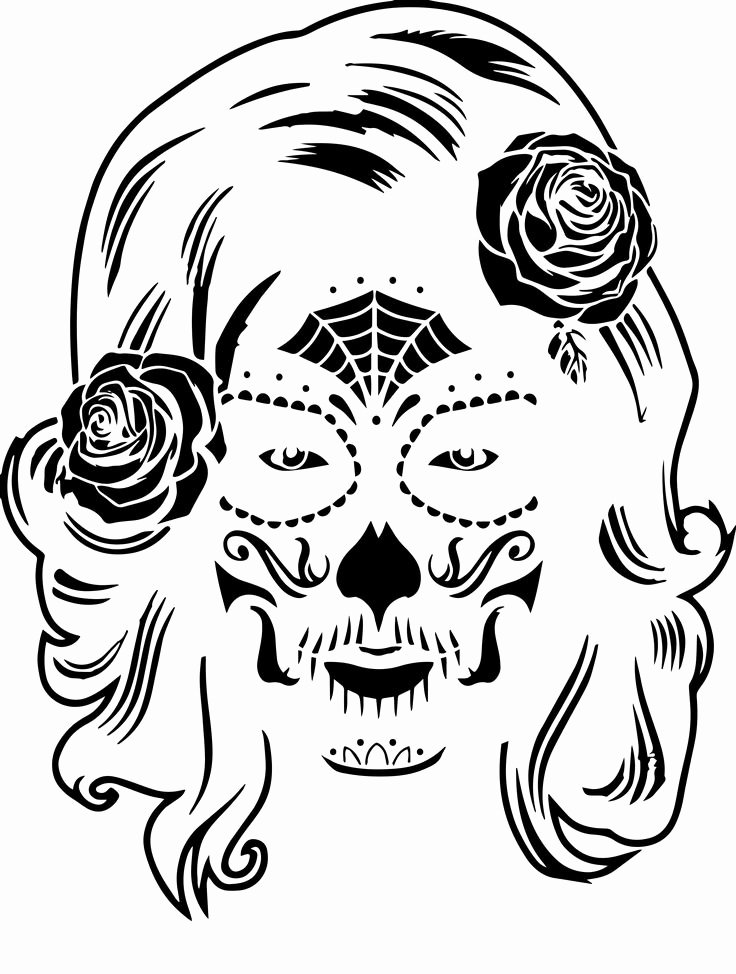 Sugar Skull Pumpkin Carving Stencils Inspirational Best 25 Sugar Skull Pumpkin Ideas On Pinterest
