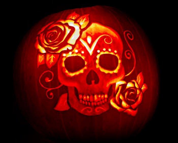 Sugar Skull Pumpkin Carving Stencils New 1000 Ideas About Sugar Skull Pumpkin On Pinterest