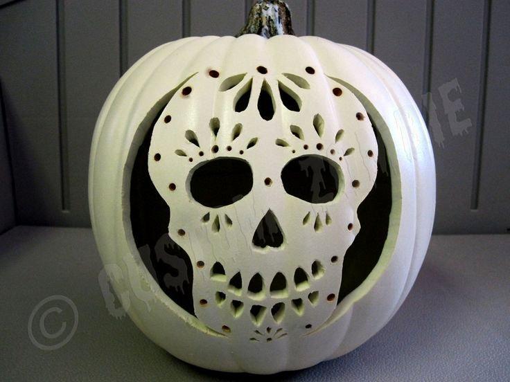 Sugar Skull Pumpkin Carving Stencils Unique Pumpkin Stencil Sugar Skull Carving Crafts
