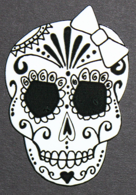 day of the dead art girl sugar skull car