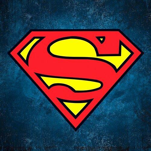 superman logo on texture square