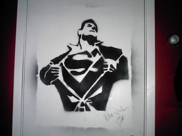 superman stencil