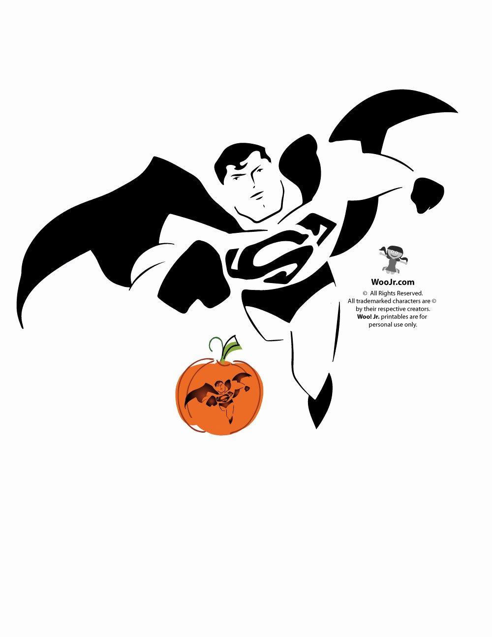Superman Pumpkin Stencils Lovely Superman Pumpkin