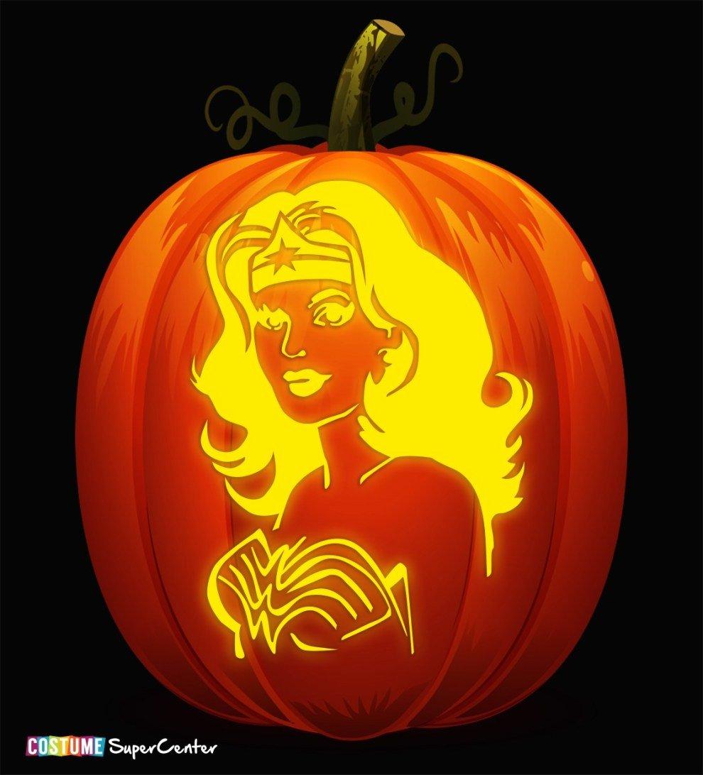Superman Pumpkin Stencils Unique In Time for Halloween Justice League Pumpkin Stencils
