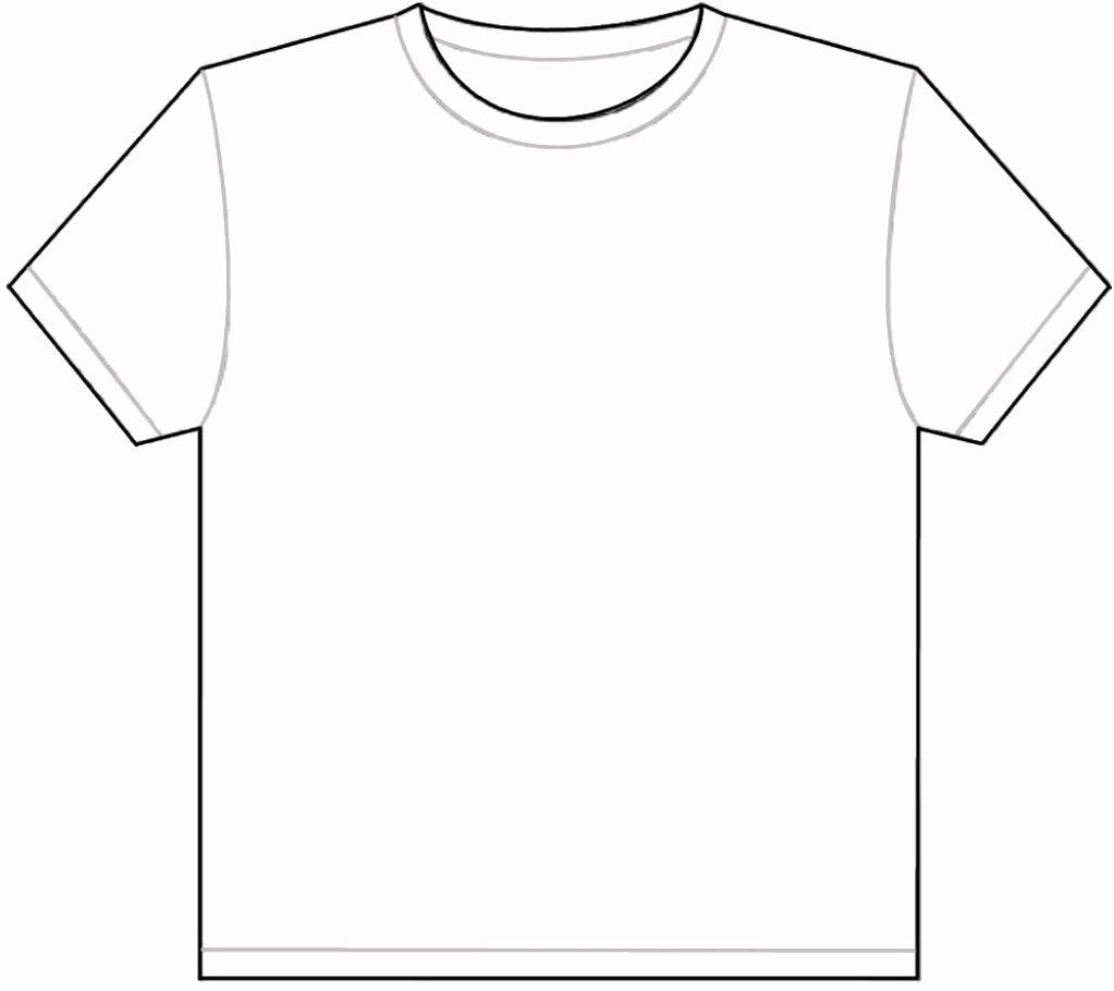 T-shirt Drawing Awesome Blank T Shirt Coloring Page thekindproject