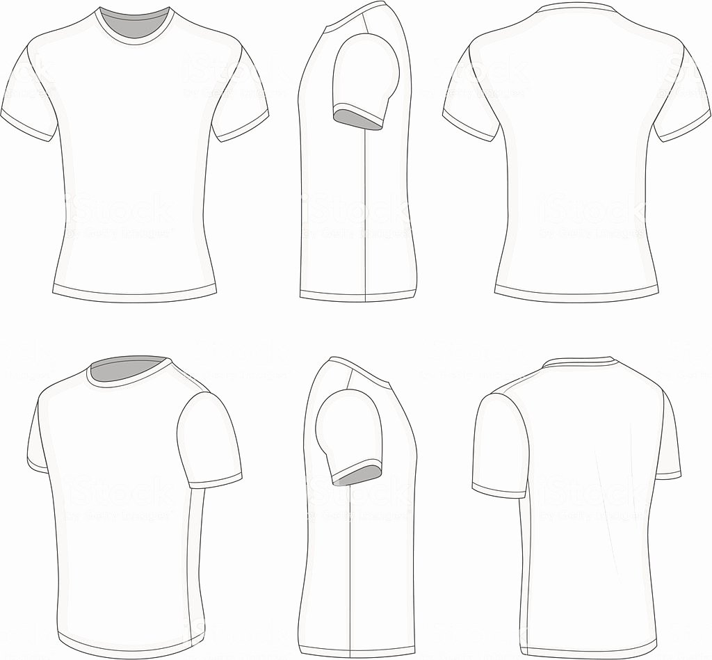 T-shirt Drawing Awesome Illustration Drawing Different Plain White Tshirt Views