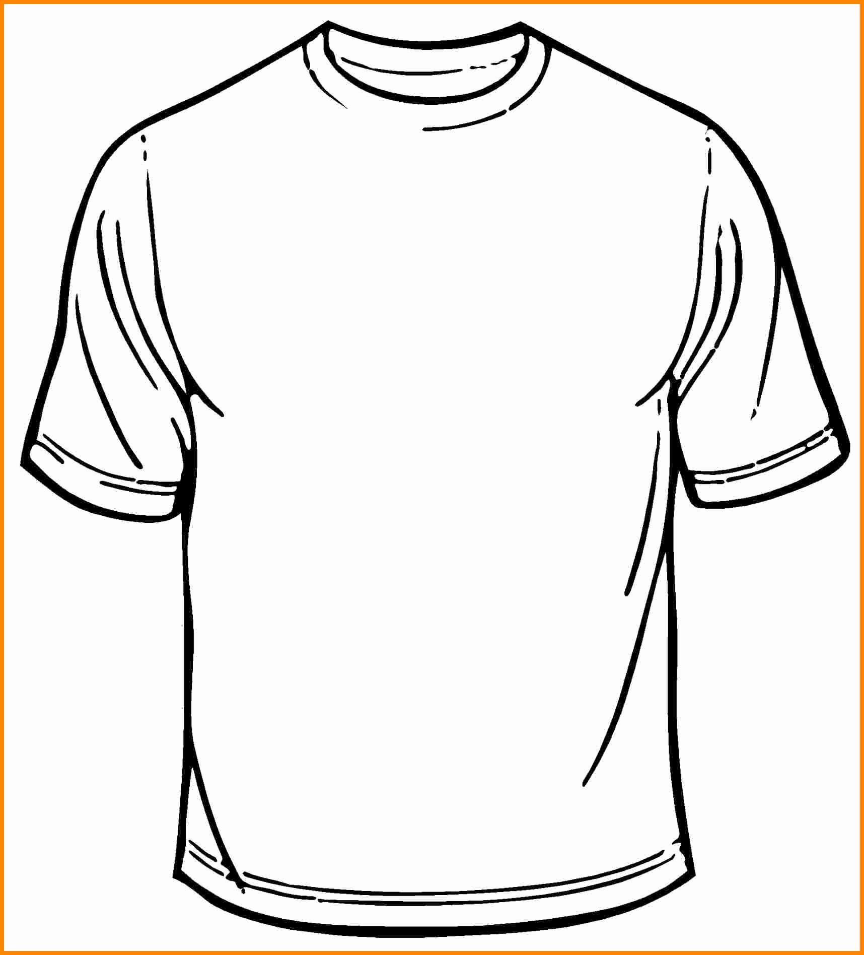 T-shirt Drawing Unique T Shirt Drawing Outline at Getdrawings