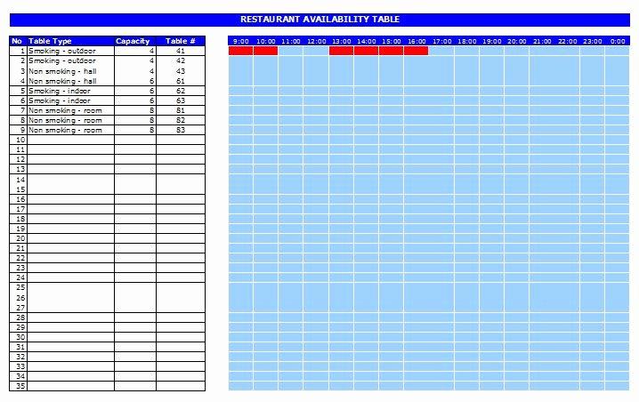 restaurant reservation template