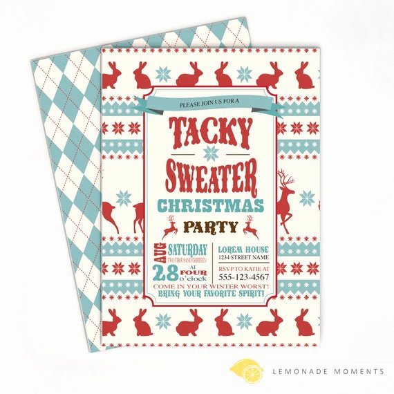ugly sweater invitation ugly sweater christmas 2