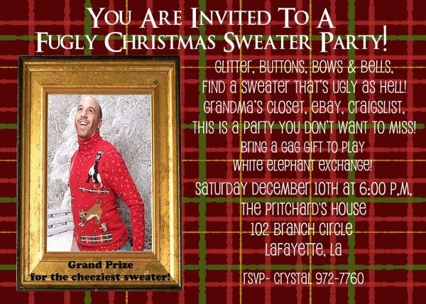Tacky Christmas Sweater Party Invitation Wording New Tacky Christmas Sweater Party Invitation Wording