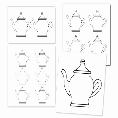 Teapot Template Free Printable Best Of Printable Teapot Template From Printabletreats