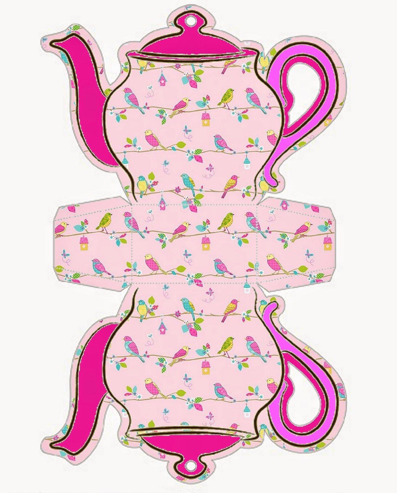 Teapot Templates Free Printable Inspirational Retro Birds Teapot Free Printable Box
