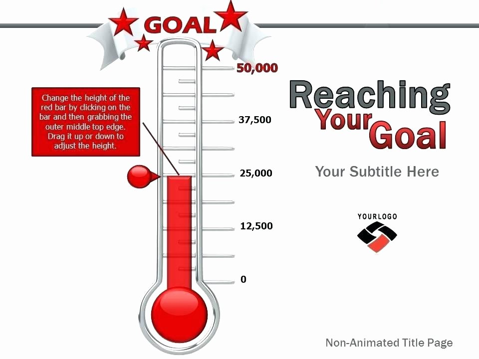 Thermometer Goal Chart Template Beautiful Goal Tracker thermometer – Ameliaperry