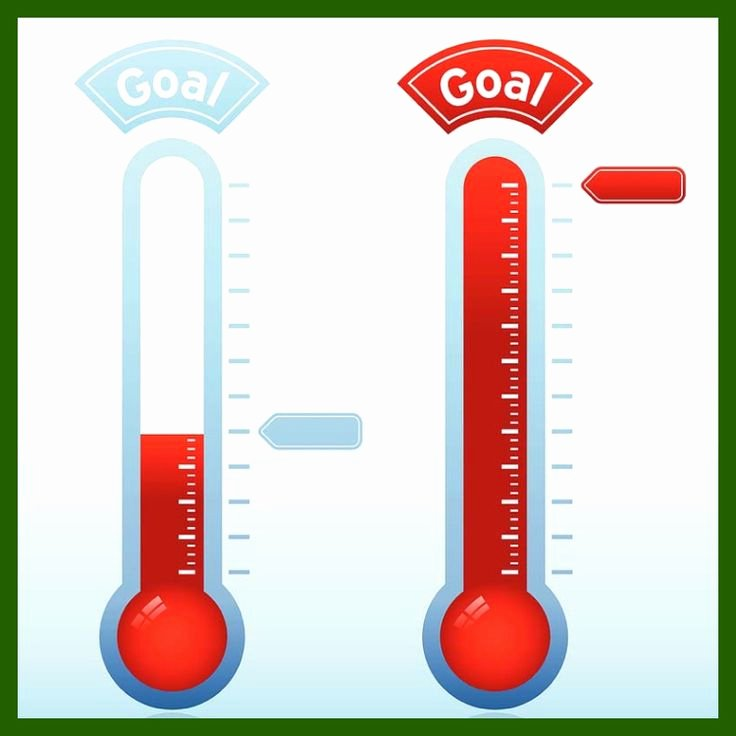 Thermometer Goal Chart Template New Goal thermometer Template