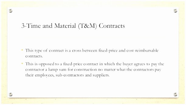 time and material contract template