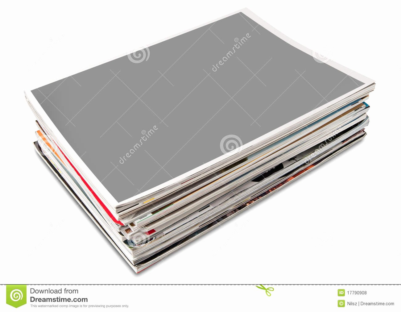 Time Magazine Blank Beautiful Blank Cover Page Magazine Stack Royalty Free Stock S