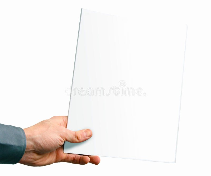 Time Magazine Blank Inspirational Blank Magazine Cover In the Hand Royalty Free Stock