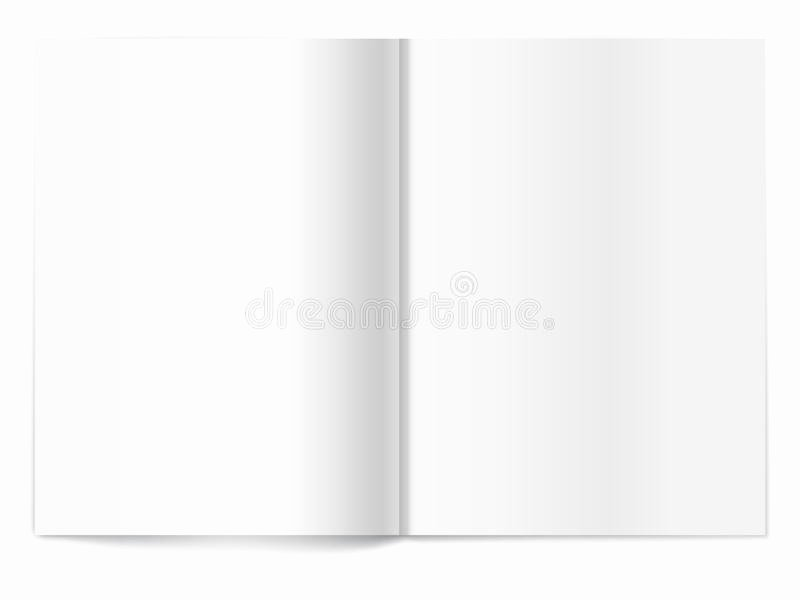Time Magazine Blank Inspirational Blank Magazine Spread Template for Design Royalty Free