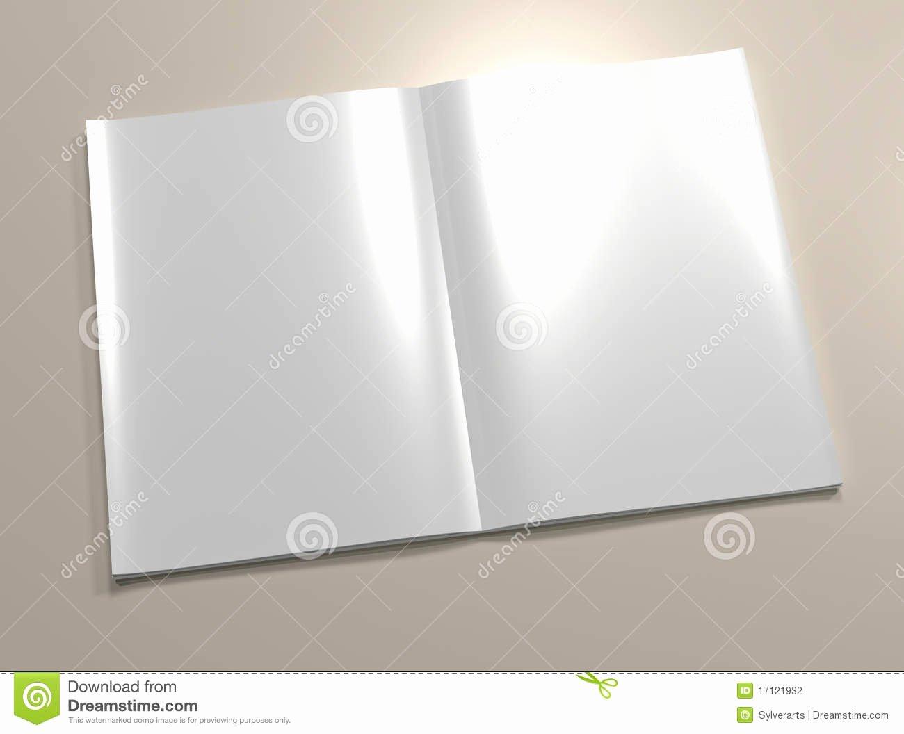 Time Magazine Blank Luxury Magazine Open Page Book Blank Empty Sheet Cartoon Vector