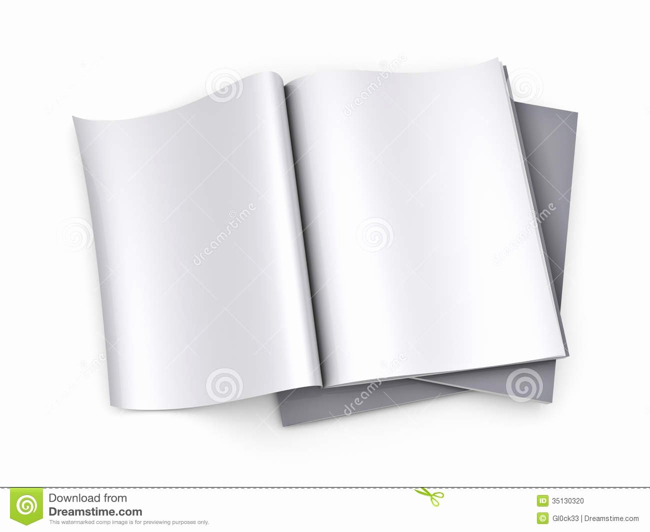 Time Magazine Blank Unique Magazine Blank Page Template Stock Illustration