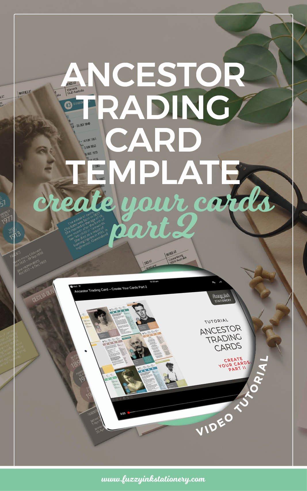 Trading Card Template Word Beautiful Ancestor Trading Card Template Create Your Cards Part 2