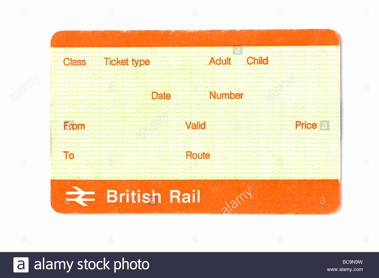 Train Ticket Template Awesome Blank British Train Ticket Stock Alamy